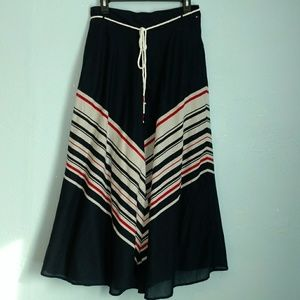 Tommy Hilfiger striped maxi skirt pockets